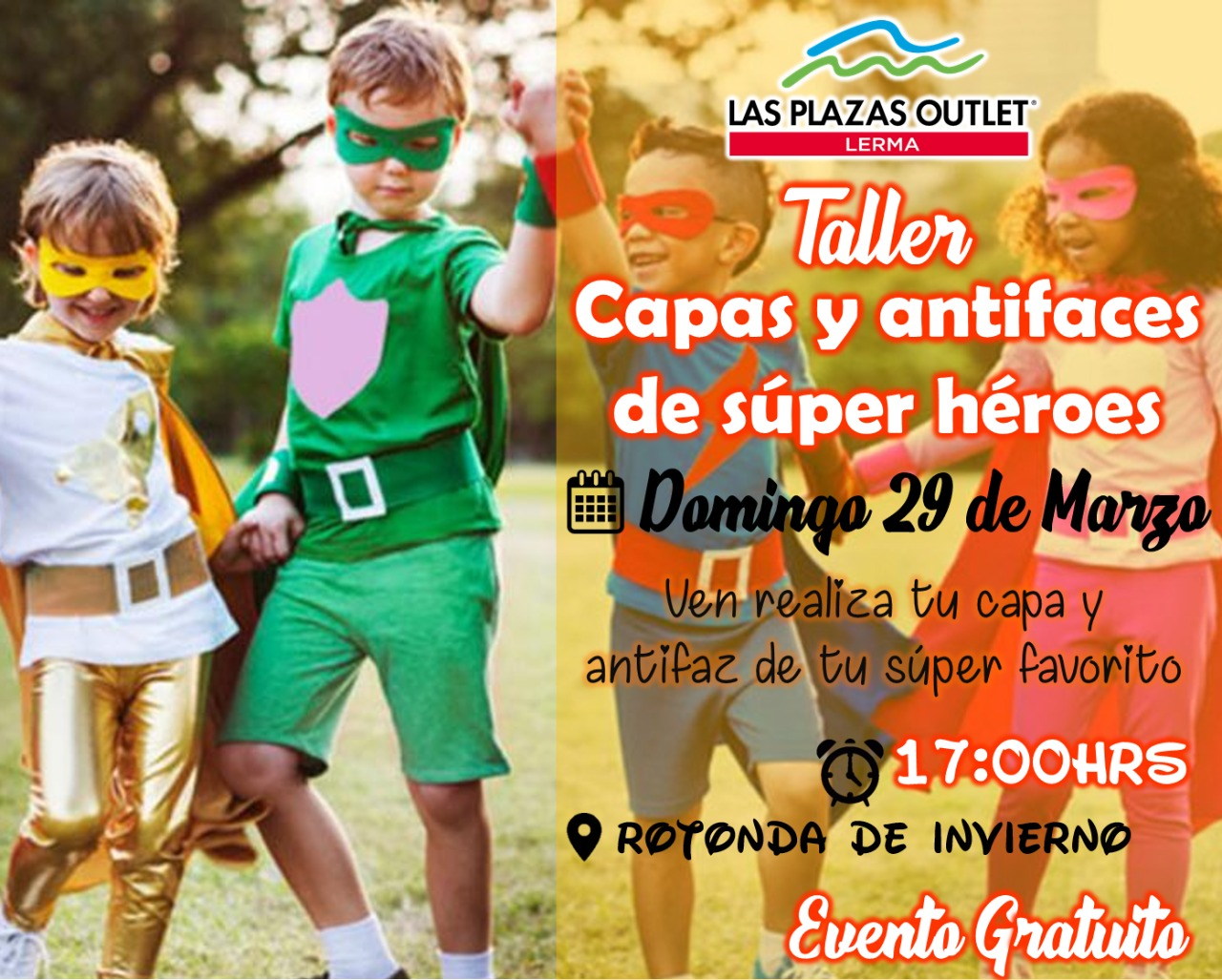 Las Plazas Outlet Lerma - TALLER CAPAS Y ANTIFACES